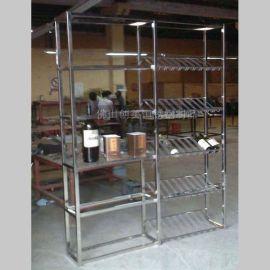 【专做】简易不锈钢酒架 专卖店不锈钢酒架 质量稳定 美观持久