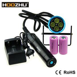 HOOZHU鸿珠 HU33 便携式潜水灯 最大4000流明 强光潜水手电筒 LED手电筒 潜水装备