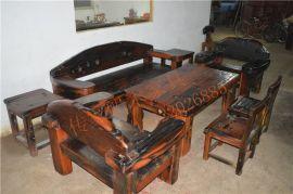 船木家具沙发,实木大沙发4件套组合。