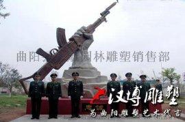 汉博雕塑玻璃钢铸铜雕塑中国现代武警军人雕塑城市景观雕塑
