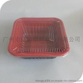 環保餐盒, 紅黑塑料打包盒