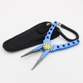 航空鋁合金釣魚鉗 鎢鋼路亞鉗 帶失手繩釣魚剪 漁具配件用品