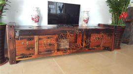 船木家具电视柜,专业老船木厂家新款电视柜现货