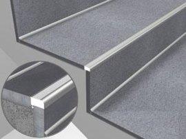 鑫美格公司专业生产高档楼梯防滑条,产品用于瓷砖,石材,木地板楼梯图片