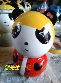玻璃钢雕塑 -卡通熊猫 -玻璃钢卡通熊猫雕塑摆件