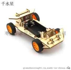 DIY木板兩驅車小A 科技小制作益智模型玩具批發零售