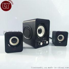 直销多种颜色迷你2.1低音炮 USB有源低音优质组合音响 高保真音响