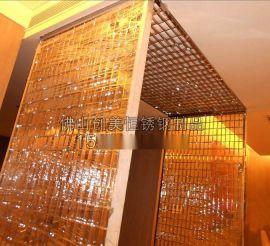 【订制】酒店金属屏风隔断 红古铜不锈钢屏风 不锈钢隔断花格