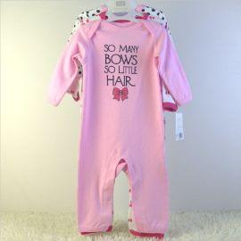 婴童外贸服装纯棉长爬套装三件套