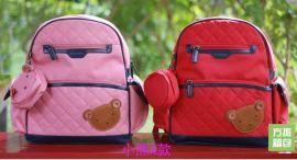 工厂批发生产韩国品牌正品 女生孩子 儿童 小学生1-5年级减负书包双肩背包书包