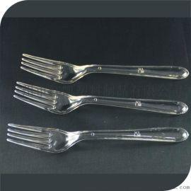 透明塑料刀叉勺, PS一次性塑料刀叉勺,西餐刀叉勺,环保塑料刀叉