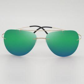厂家直销 新款时尚潮流偏光太阳镜 男女式通用无框超轻蛤蟆镜批发