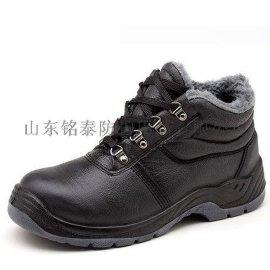 防砸防穿刺劳保鞋MM-004G钢头钢底真皮舒适透气PU注塑底防护工作鞋