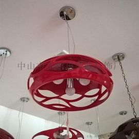 玛斯欧现代简约艺术设计树脂餐厅吊灯波浪镂空小款吊灯MS-P1060S