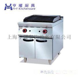 立式火山石燒烤爐,上海氣火山石燒烤爐,立式火山石烤爐連櫃,落地款氣火山石烤爐