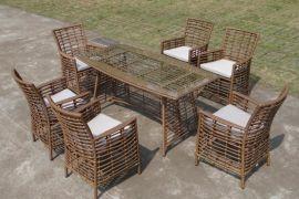 新款藤制餐桌椅 ,戶外花園家具 休閒編藤桌椅(KY-2153)