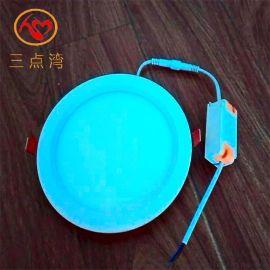 超薄射燈開孔110MM暗裝圓形三點灣品牌