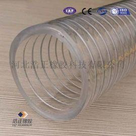 厂家直销 PVC透明钢丝管 塑料PVC管
