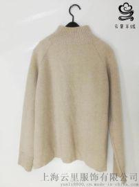 韓版純色寬鬆羊絨衫針織衫女 簡約休閒百搭套頭毛衣 學生特價清倉