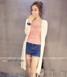 夏季纯色中长款防晒衫超薄冰丝衫 长袖披肩罩衫【免费加盟/一件代发】