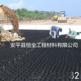 河北蜂巢式护坡绿化材料 蜂巢格室压花打孔塑料土工格室