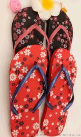 【厂家直销】夏季女士碎花人字夹脚拖 沙滩拖鞋 韩版个性简约百搭