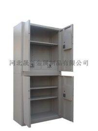 4门铁皮文件档案柜 带暗斗双节保密文件柜 钢制办公资料储存柜