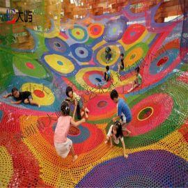 兒童攀爬彩虹網  彩色編織網  蜘蛛網設備