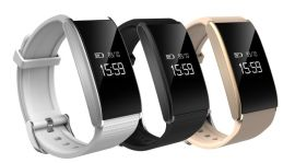新款A58独家专利防水智能手环心率血氧血压疲劳度四合一监测