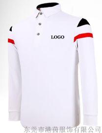 厂家直销 高尔夫服装 专业定制 秋冬款长袖 休闲运动T恤 logo定制