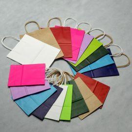 紙袋現貨黃白牛皮紙袋服裝手提袋批發定制禮品袋牛皮紙包裝袋印刷