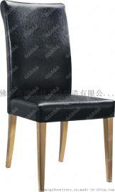 软包餐椅,实木脚软包餐椅广东鸿美佳厂家加工生产