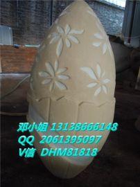 砂巖燈罩瑪雅石雕花燈罩樓盤地產家居裝飾黃砂巖橢圓形燈罩武漢生產廠家