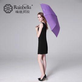 雨具厂家直销新款黑胶反光条折叠伞 个性时尚防紫外线晴雨伞定制