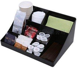 創意黑色亞克力咖啡盒收納盒 杯子咖啡膠囊紙杯收納