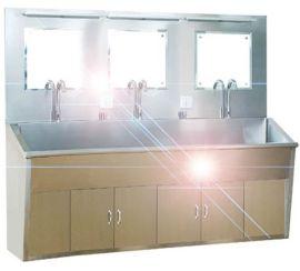 无锡金菲兰不锈钢水池多人位感应洗手池(厂家直销)