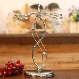 酒杯架 精致典雅高檔鐵藝置地杯架 家居飾品廠家批發
