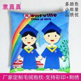 深圳抱枕厂家定做毛绒抱枕 彩色数码印花毛绒抱枕 品质好不掉色