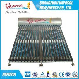 供应优质120L-350一体承压热管不锈钢太阳能热水器
