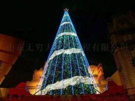 户外商场美陈大型圣诞树3/5/6/8/10/12米DP点装饰新品厂家直销