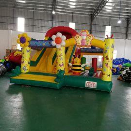 厂家直销新款淘气堡儿童乐园太阳花充气跳床滑梯运动室外