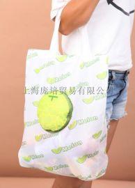 印花背心袋布手提涤纶购物袋折叠袋
