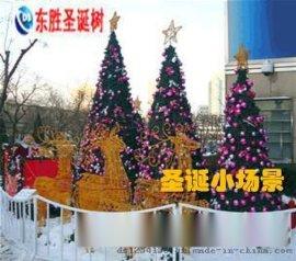 固安圣诞工程-圣诞装饰-真树缠灯-墙体灯饰画