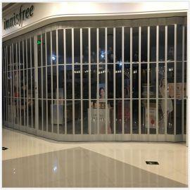 厂家直销卷帘门弧形水晶折叠门商铺防盗门进户门