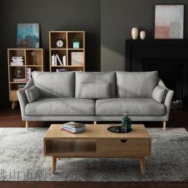 北欧宜家小户型家具现代简约三人双人单人位客厅沙发