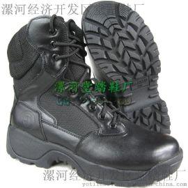 真皮作战训练靴军靴厂家正品男靴SWAT作战靴户外靴登山靴
