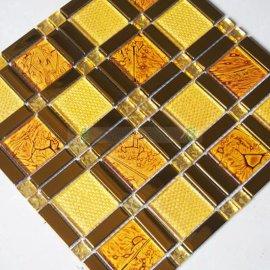 重庆开县高性价比的水晶玻璃金箔电镀马赛克瓷砖生产厂家批发直销