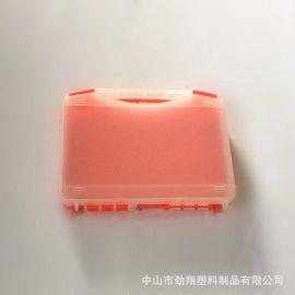 JX001 230*180*45mm 半透明(红)新款经济型配件塑料设备箱 小号手提塑料工具箱