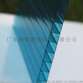 雨棚级PC阳光板 中空板 颜色规格齐全 欢迎采购