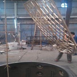 定制不鏽鋼門頭花格弧形不鏽鋼隔斷鈦金不鏽鋼屏風